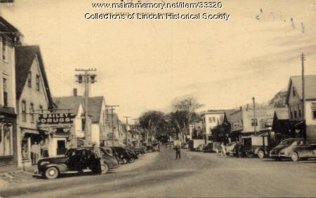 Lower Main St. looking north, Lincoln, ca. 1948