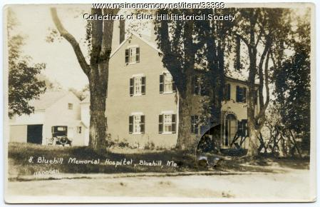 Original Blue Hill Memorial Hospital Building, Blue Hill, ca. 1922
