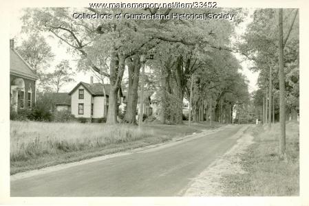 Prince Memorial Library and Dilloway Home, Cumberland Center, ca. 1930