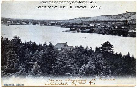 Inner Harbor and village, Blue Hill, ca. 1905