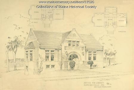 Plan for Rumford Falls Library, 1903