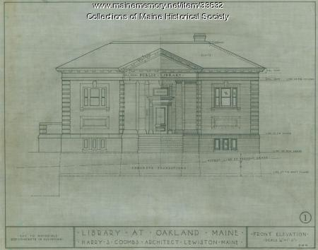 Oakland Library drawing, 1912