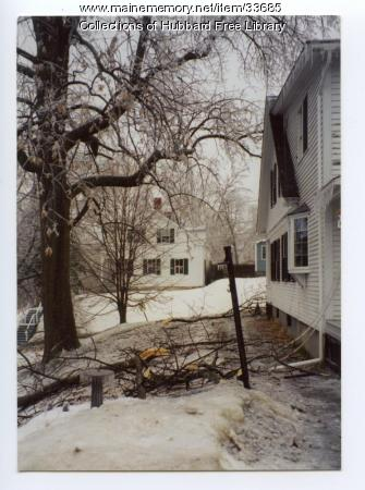 Ice Storm at the Wingate House, Hallowell, 1998
