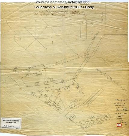 White's Wharf and vicinity, Biddeford, ca. 1840