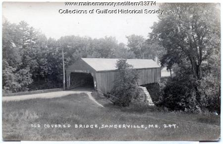 Covered Bridge between Guilford & Sangerville, ca. 1900