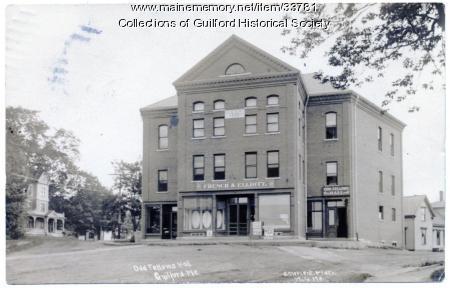 Odd Fellows Hall and French & Elliott Store, ca. 1916