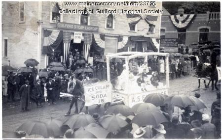 A. S. Eldridge Float in Bank Square, Guilford, 1916