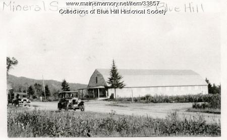 Blue Hill Mineral Spring pavilion, ca. 1915