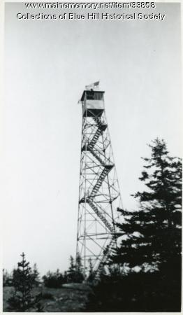 Blue Hill Mountain fire tower, Blue Hill, ca. 1950