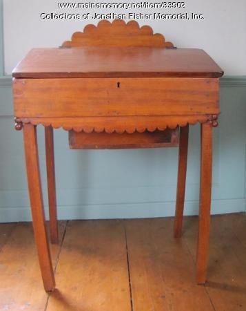 Children's Desk with secret drawer, Blue Hill, ca. 1800