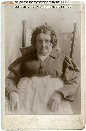 Mrs. Jane B. Thacher, Biddeford and Portland, ca. 1890