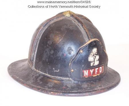 North Yarmouth Fire Company helmet, ca. 1945