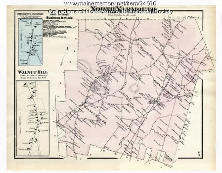 Map of North Yarmouth. 1871