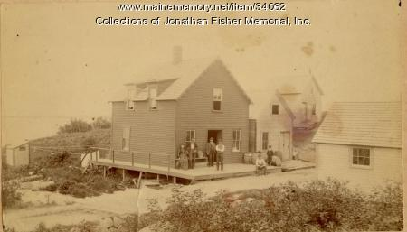Giles Webber's store, Blue Hill, 1889