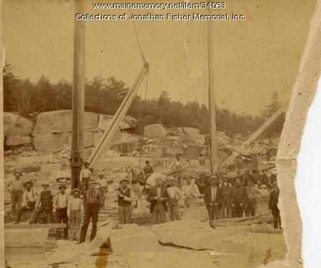 Brown & McAllister Granite Quarry, Blue Hill Bay, ca. 1890