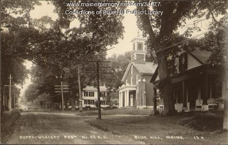 Main Street, Blue Hill, 1954