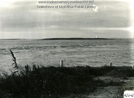 Islands seen from Biddeford Pool, 1917