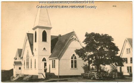 Christian Temple Church, Lubec, ca. 1950