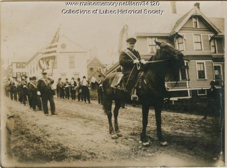 Parade on Main Street, Lubec, ca. 1908-10
