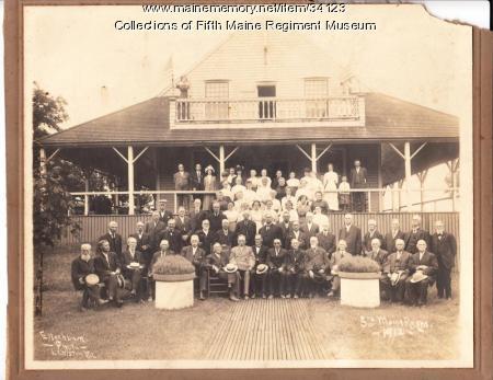 Fifth Maine Regiment Veteran Reunion, Peaks Island, 1912