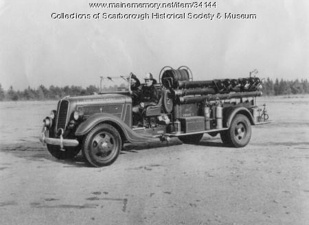 Ford Fire Truck, Scarborough, ca. 1937