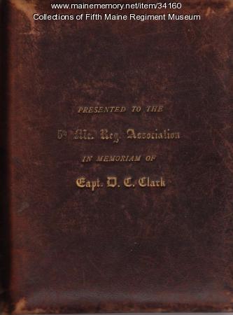Photograph album of Civil War veterans, Portland, ca. 1870