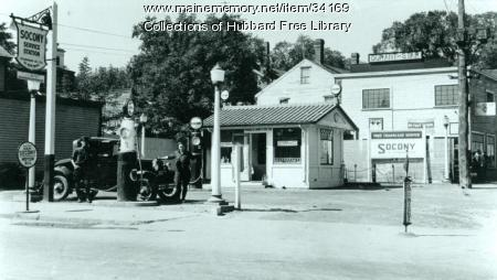 J. K. Hayes Socony Service Station, Hallowell, ca. 1933
