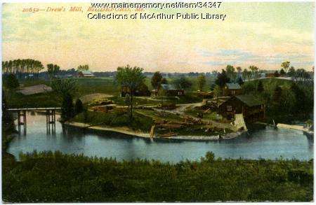 Drew's Mill, Biddeford, 1909