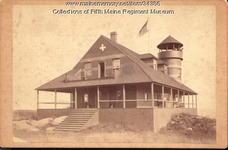 Fifth Maine Regiment Memorial Hall, Peaks Island, ca. 1890