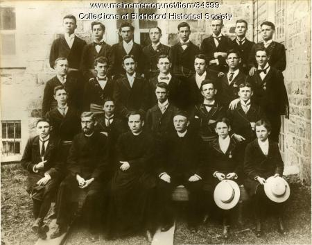 Biddeford Mayor Louis B. Lausier school photo, ca. 1898