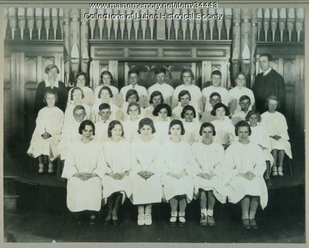 Choir, Congregational Church, Lubec, ca. 1930