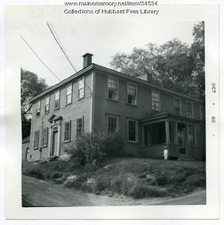 Eliphalet Gilman House, Academy Street, Hallowell, 1968