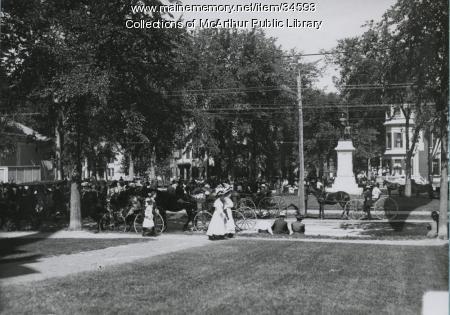 Waiting for the parade, Saco, 1912