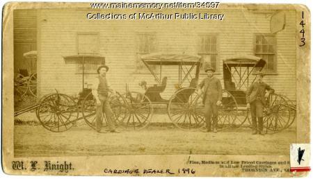 Carriage dealer Walter Knight, Saco, 1896