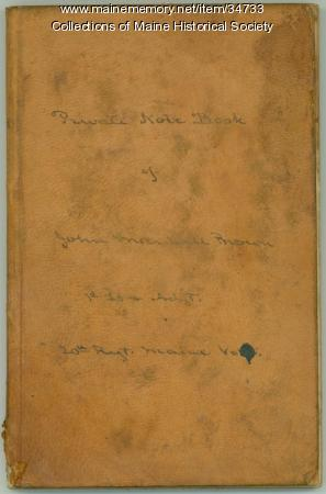 John Marshall Brown private notebook, 1862