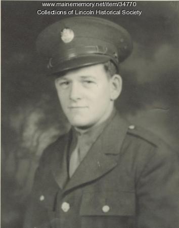 Ariel G. Edwards, WW II soldier, Lincoln, 1943