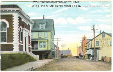 Bank Square, Lubec, ca. 1910