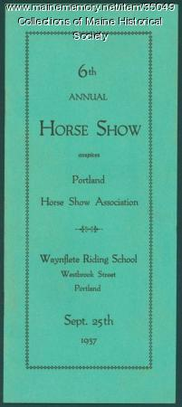 Portland Horse Show Association program, 1937