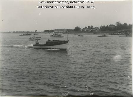 River traffic, Saco River, ca. 1912
