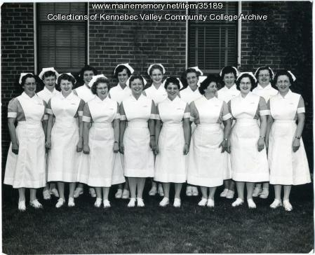 Maine School of Practical Nursing graduating class, Waterville, 1960