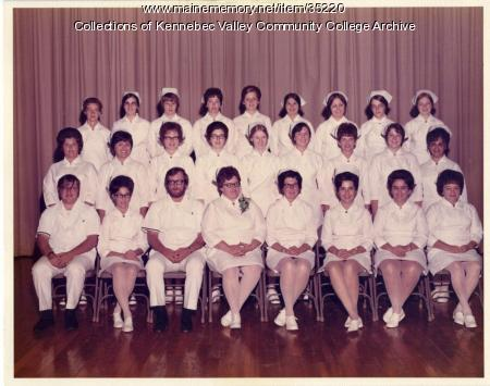 Maine School of Practical Nursing graduating class, Waterville, 1972