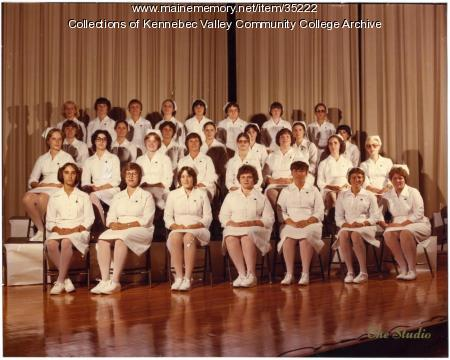 Maine School of Practical Nursing graduating class, Waterville, 1980