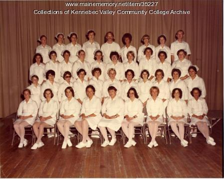 Maine School of Practical Nursing graduating class, Waterville, 1977