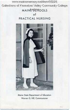 Maine School of Practical Nursing Brochure, 1963