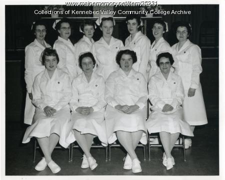 Maine School of Practical Nursing class, Waterville, ca. 1959