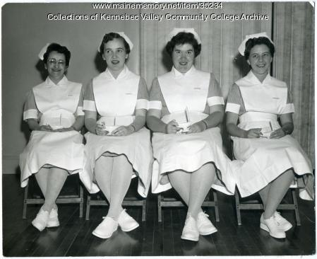 Practical Nursing class officers, Waterville, 1961