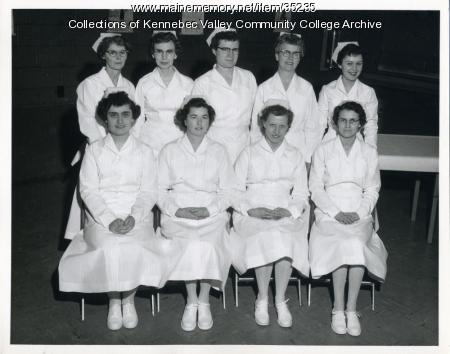 Maine School of Practical Nursing graduating class, Waterville, 1959