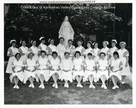 Maine School of Practical Nursing graduating class, Waterville, 1962