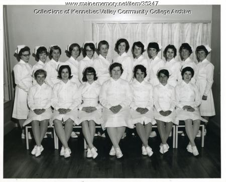 Maine School of Practical Nursing graduating class, Waterville, 1965
