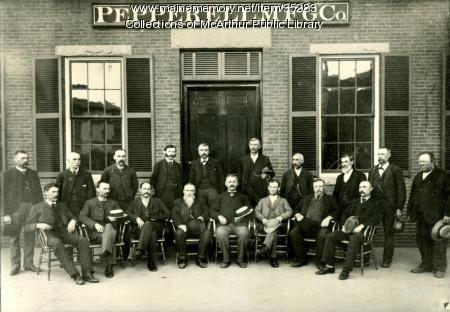 Pepperell Mills superintendents and overseers, Biddeford, 1895